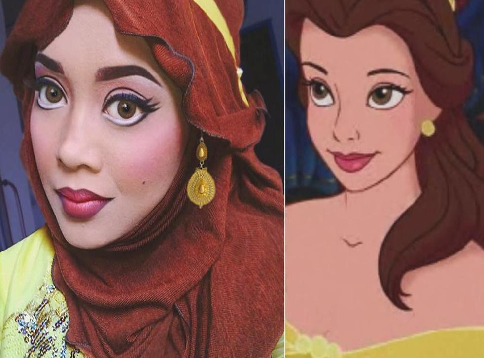The transformation into Belle from Beauty and the Beast has 31,847 likes on Instagram.