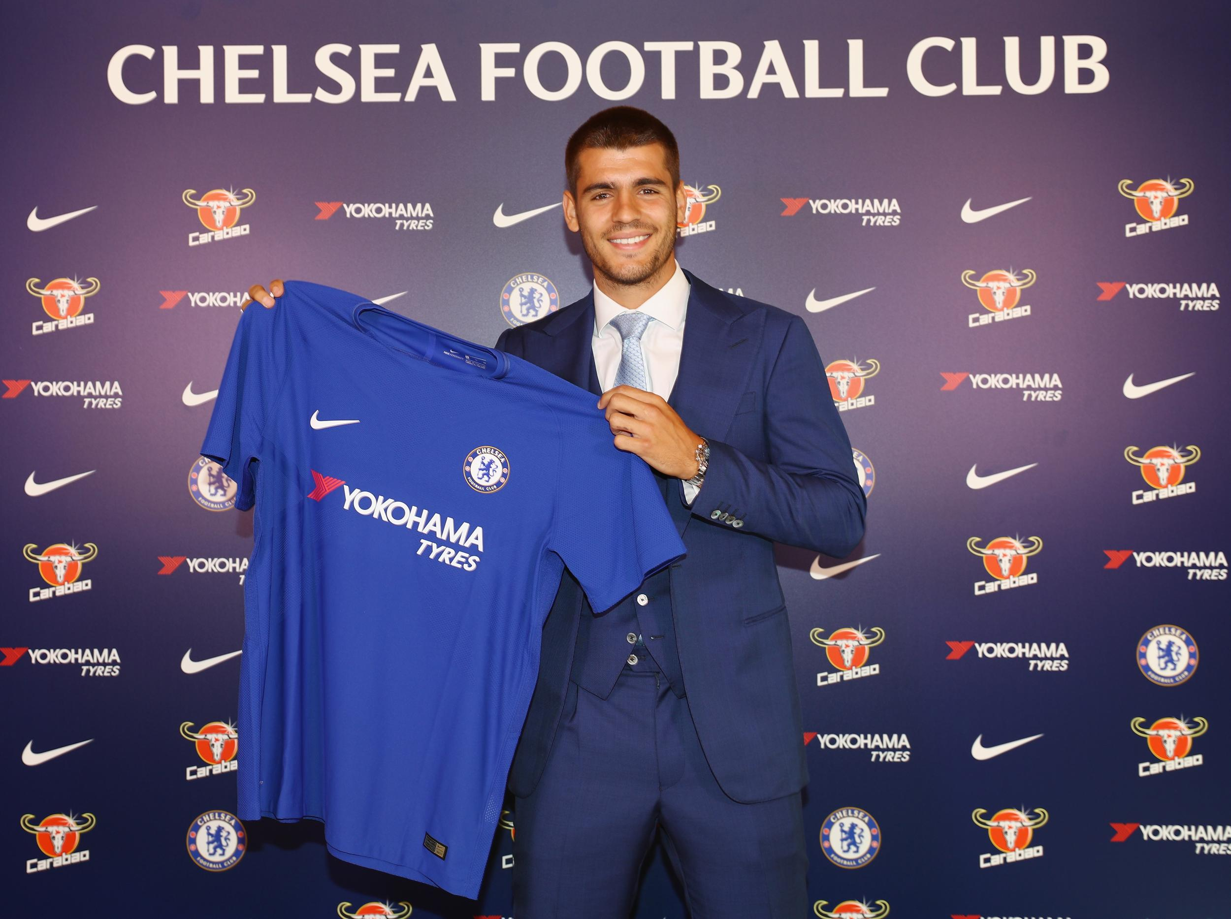 Chelsea complete club-record signing of Alvaro Morata from Real Madrid on a five-year contract | The Independent | The Independent