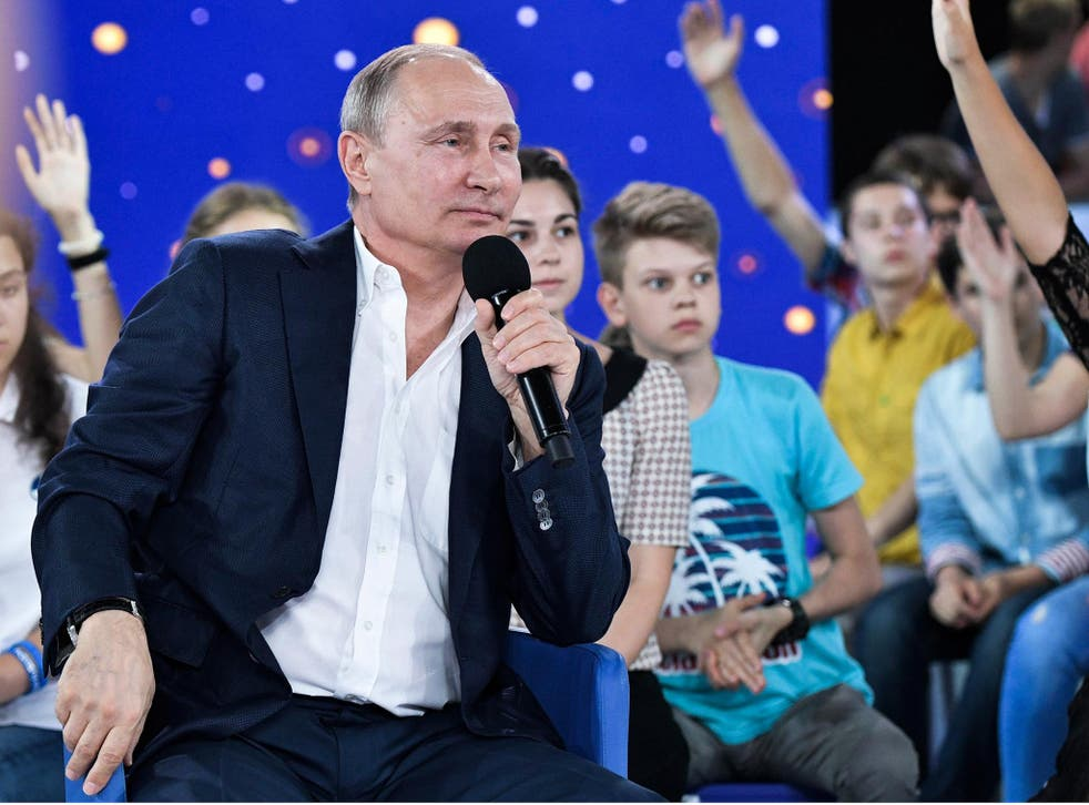 Vladimir Putin was speaking during a three-hour question and answer session with Russian children at a school in the Black Sea city of Sochi