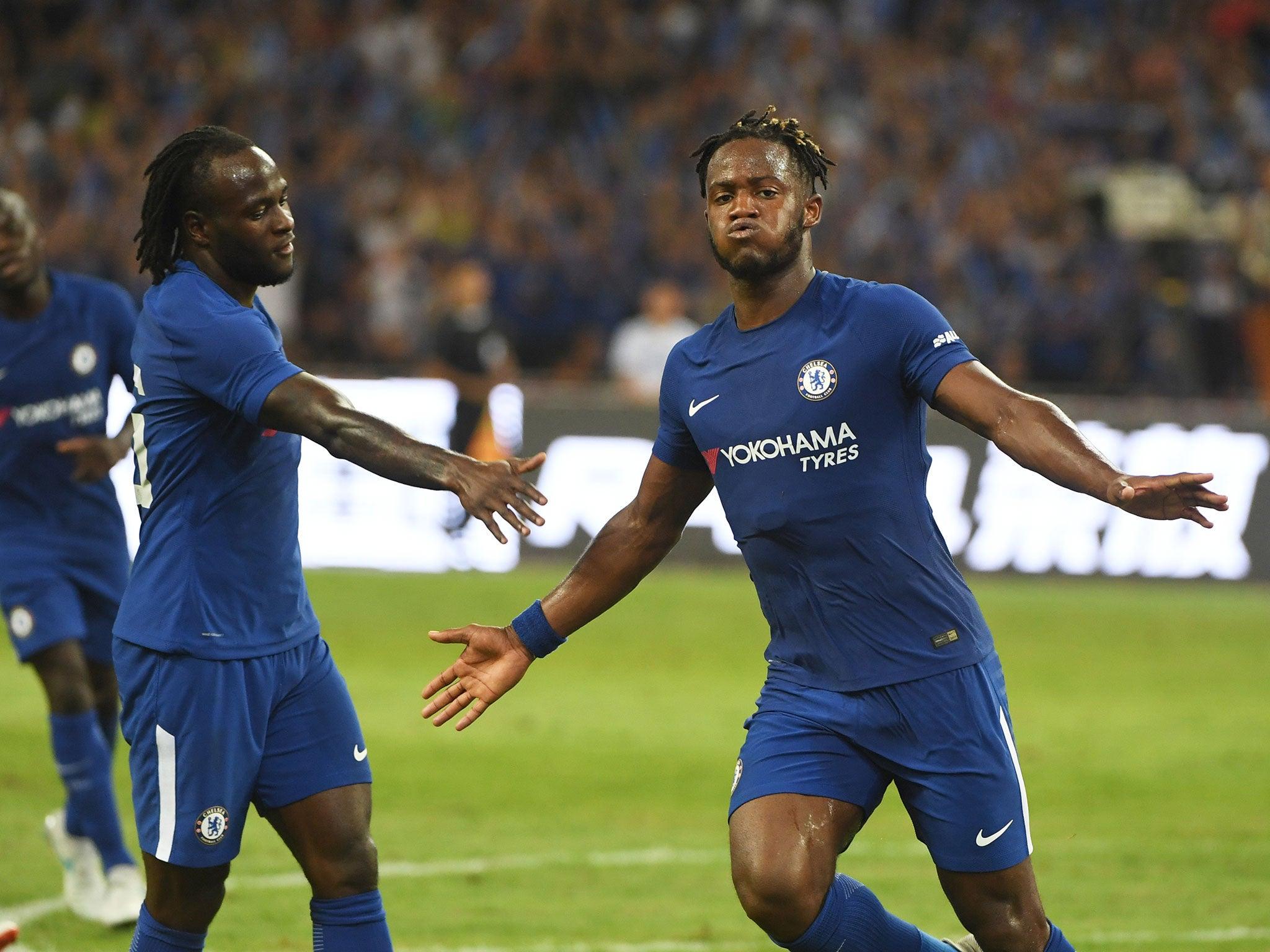 Chelsea's Michy Batshuayi denies laughing at Alvaro Morata penalty miss