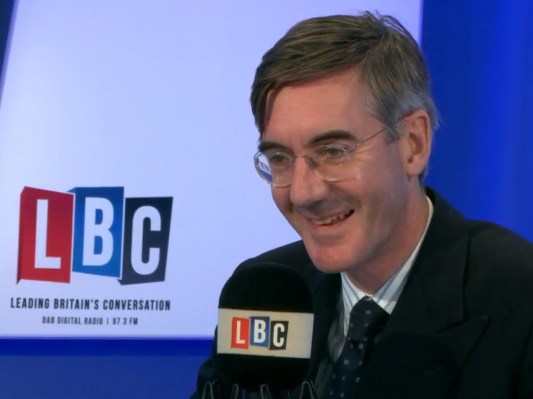 Jacob Rees Mogg says UK food bank use is 'rather uplifting'