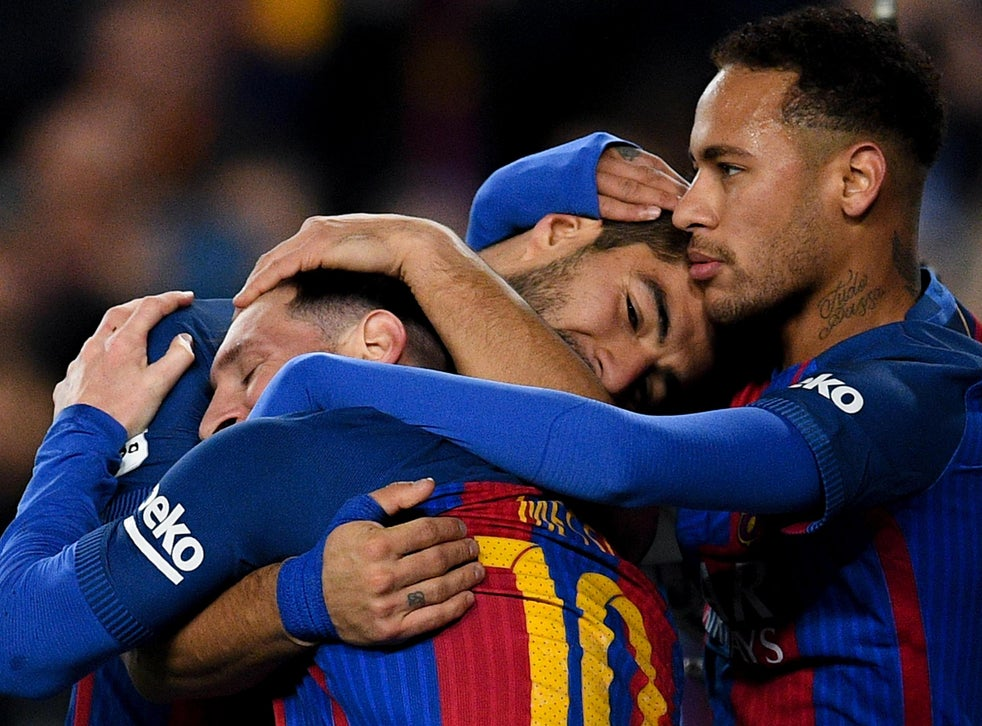 Neymar tells Lionel Messi and Luis Suarez he will stay at ...