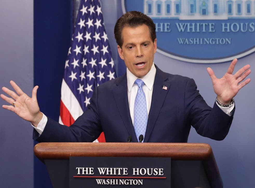 Anthony Scaramucci answers reporters' questions at a recent White House press briefing