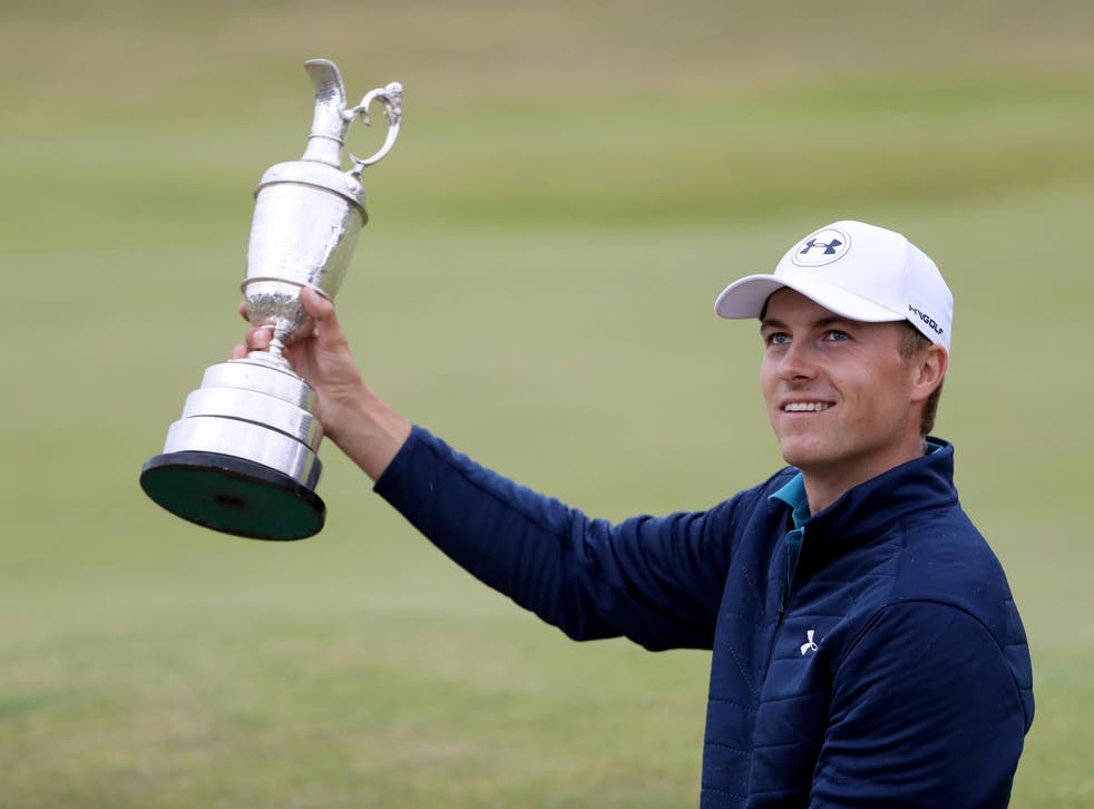 Spieth has now won three of the major golf championships