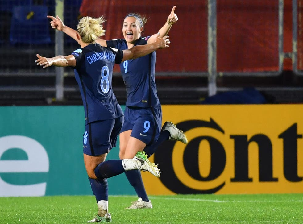 Jodie Taylor scored her fourth goal of the tournament