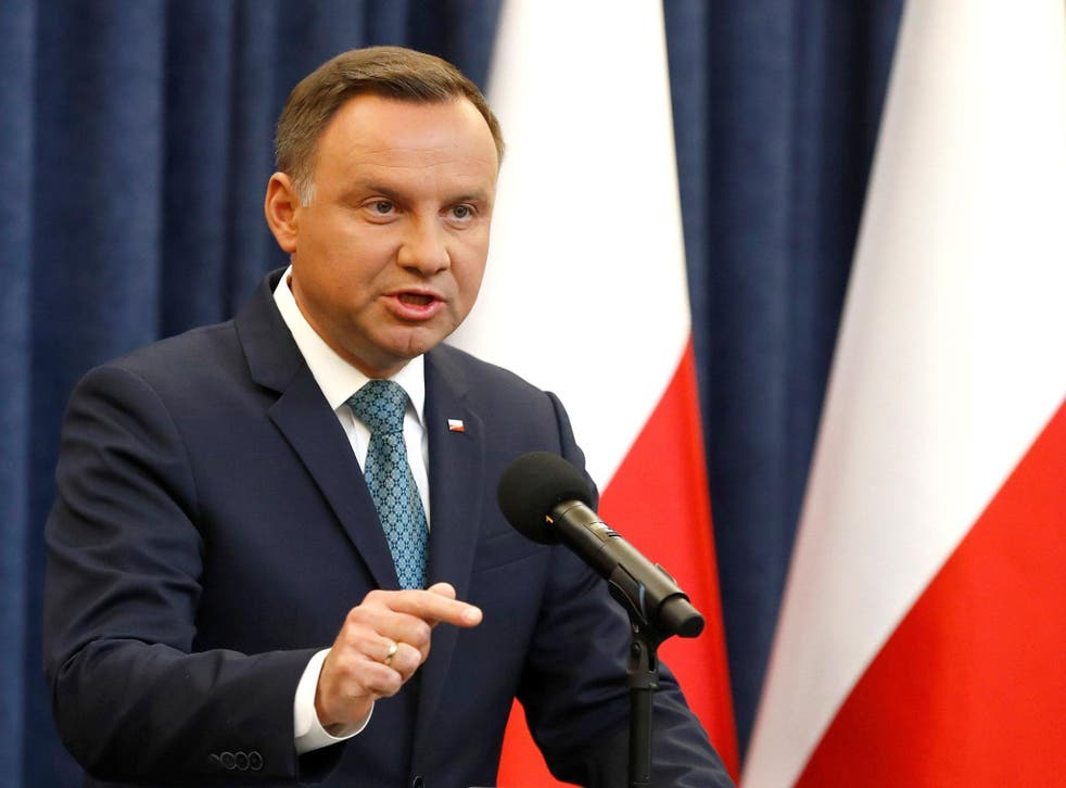 Under President Andrzej Duda, Poland has moved to make references to 'Polish death camps' a criminal offence