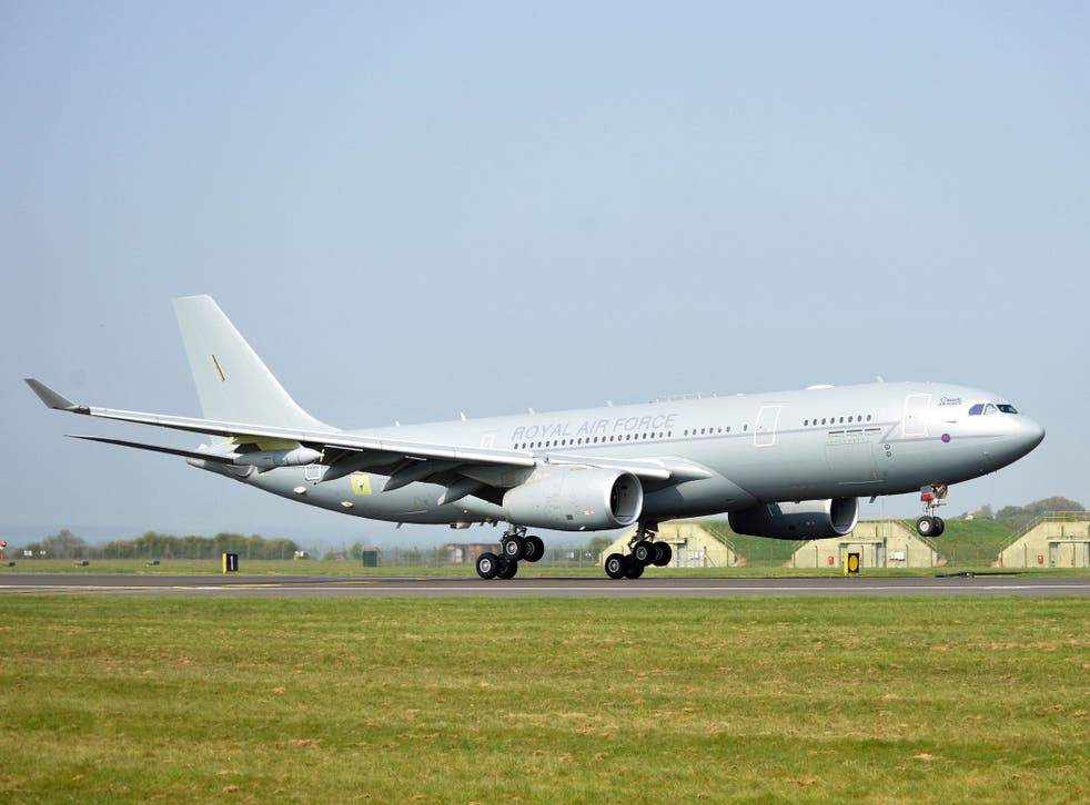 The incident could have been 'catastrophic', the pilot of the RAF Voyager told investigators