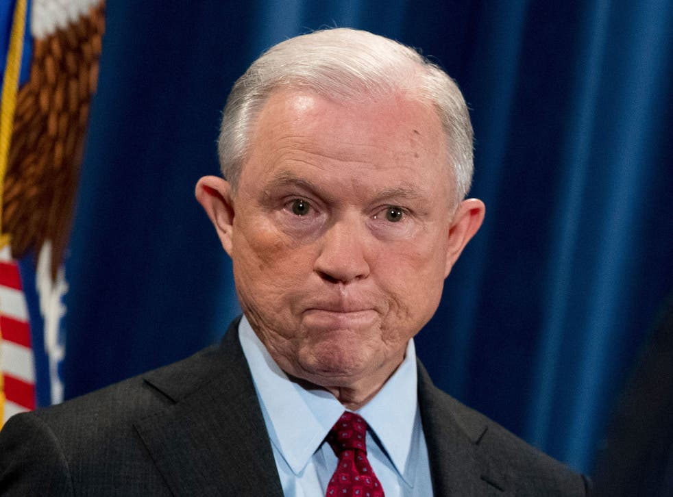 Attorney General Jeff Sessions, whose future is in doubt after a series of attacks by Donald Trump