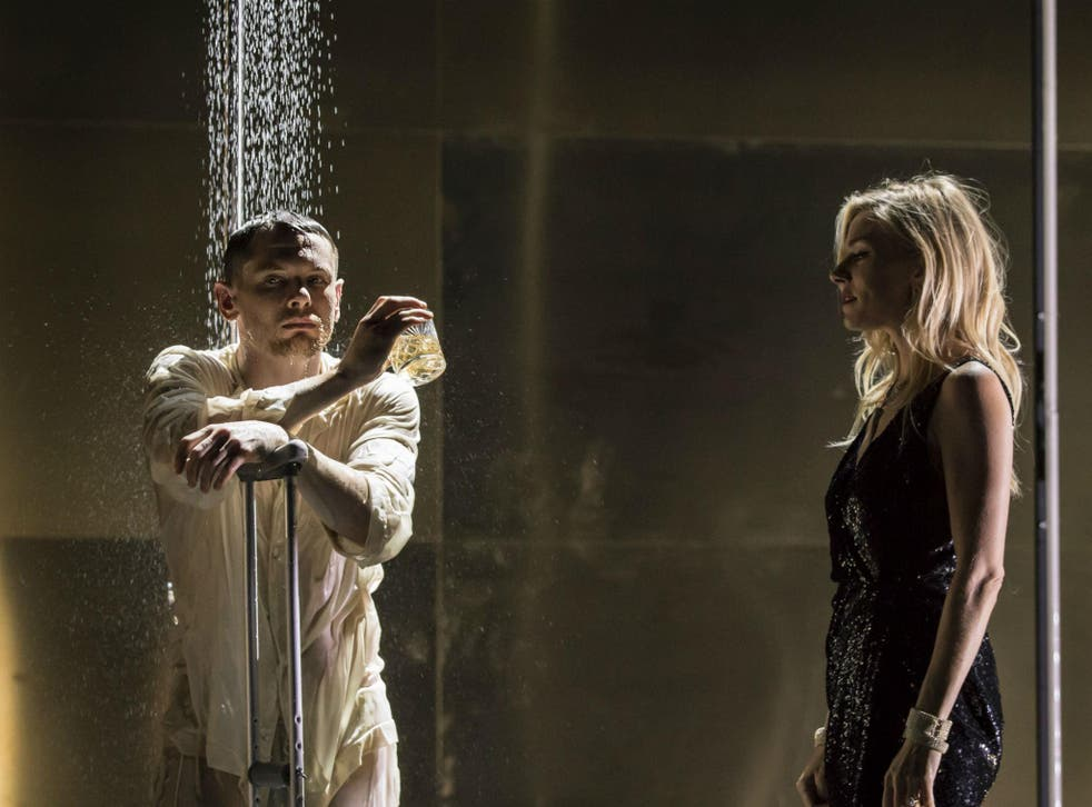 Jack O'Connell as Brick and Sienna Miller as Maggie in 'Cat on a Hot Tin Roof' at the Apollo Theatre