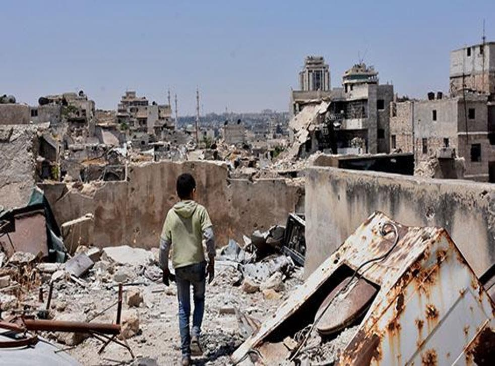 Destruction in East Aleppo, a rebel stronghold until it was taken back by government forces in December 2016