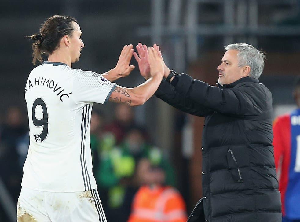 Ibrahimovic enjoyed a good relationship with Mourinho