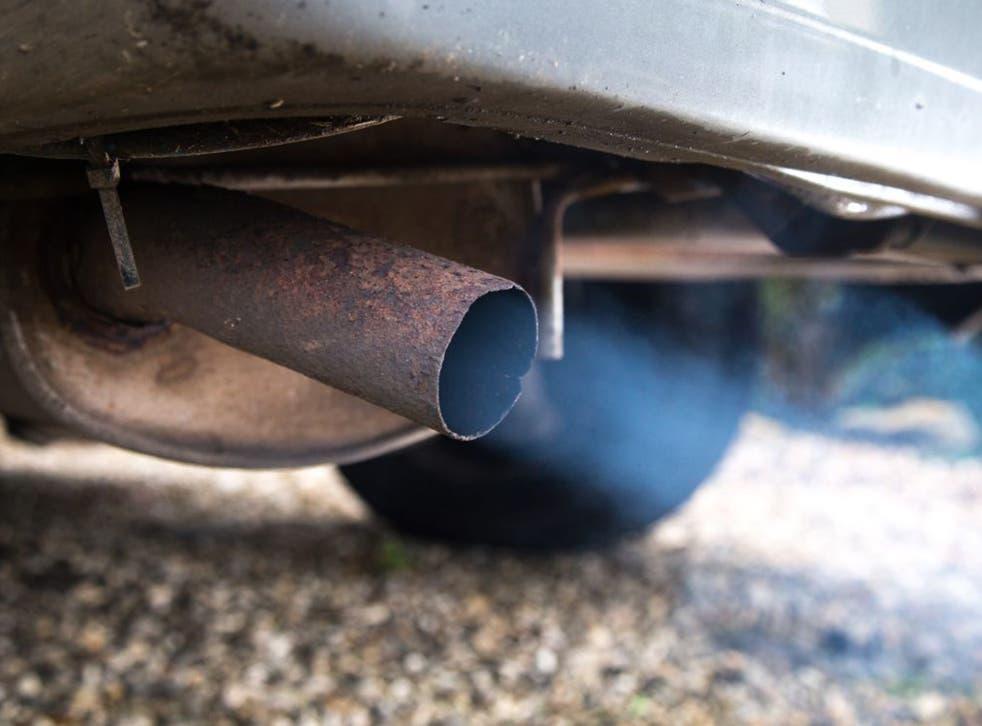 Car emissions produce fine pollution particles