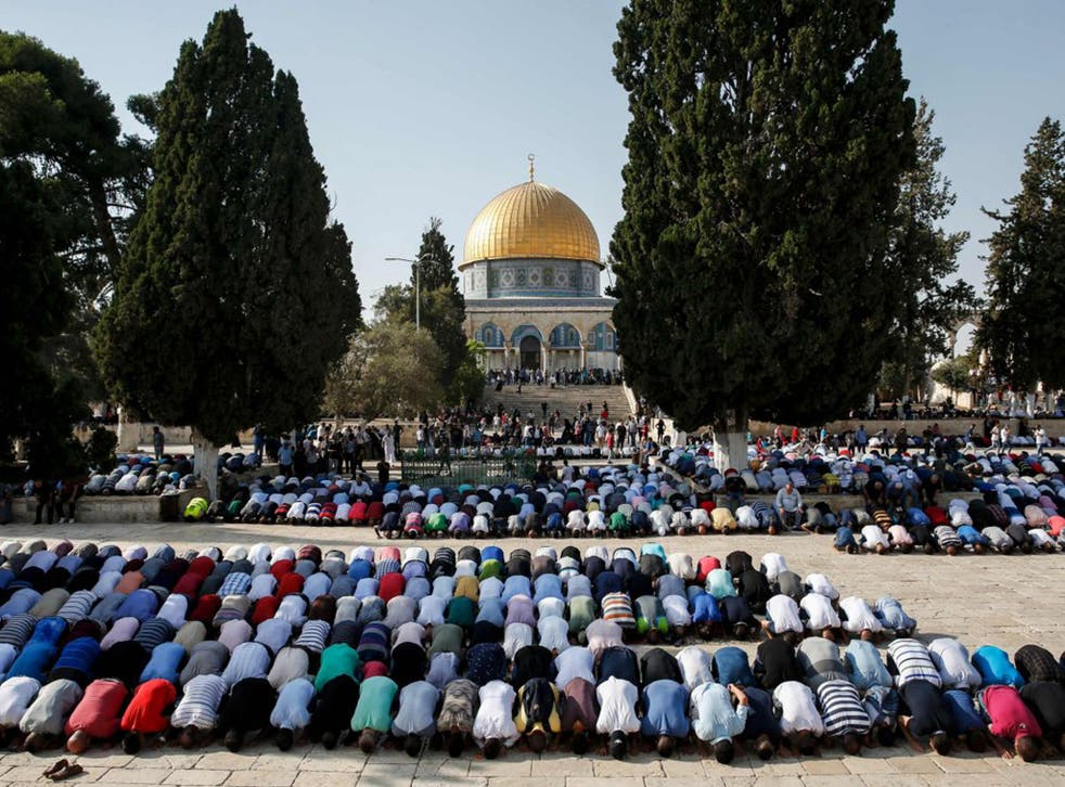 The Al-Aqsa mosque is pictured in Jerusalem