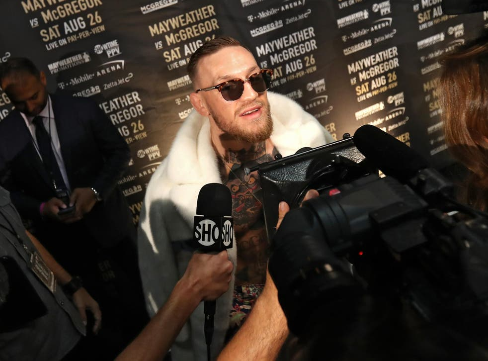 McGregor has been criticised for wearing a CJ Watson jersey