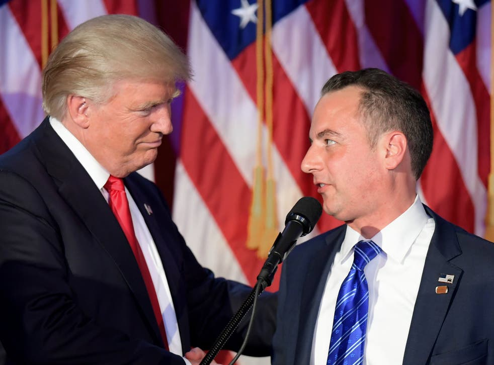 President Donald Trump and his former chief of staff Reince Priebus, who is likely to be interviewed as part of the Russia investigation