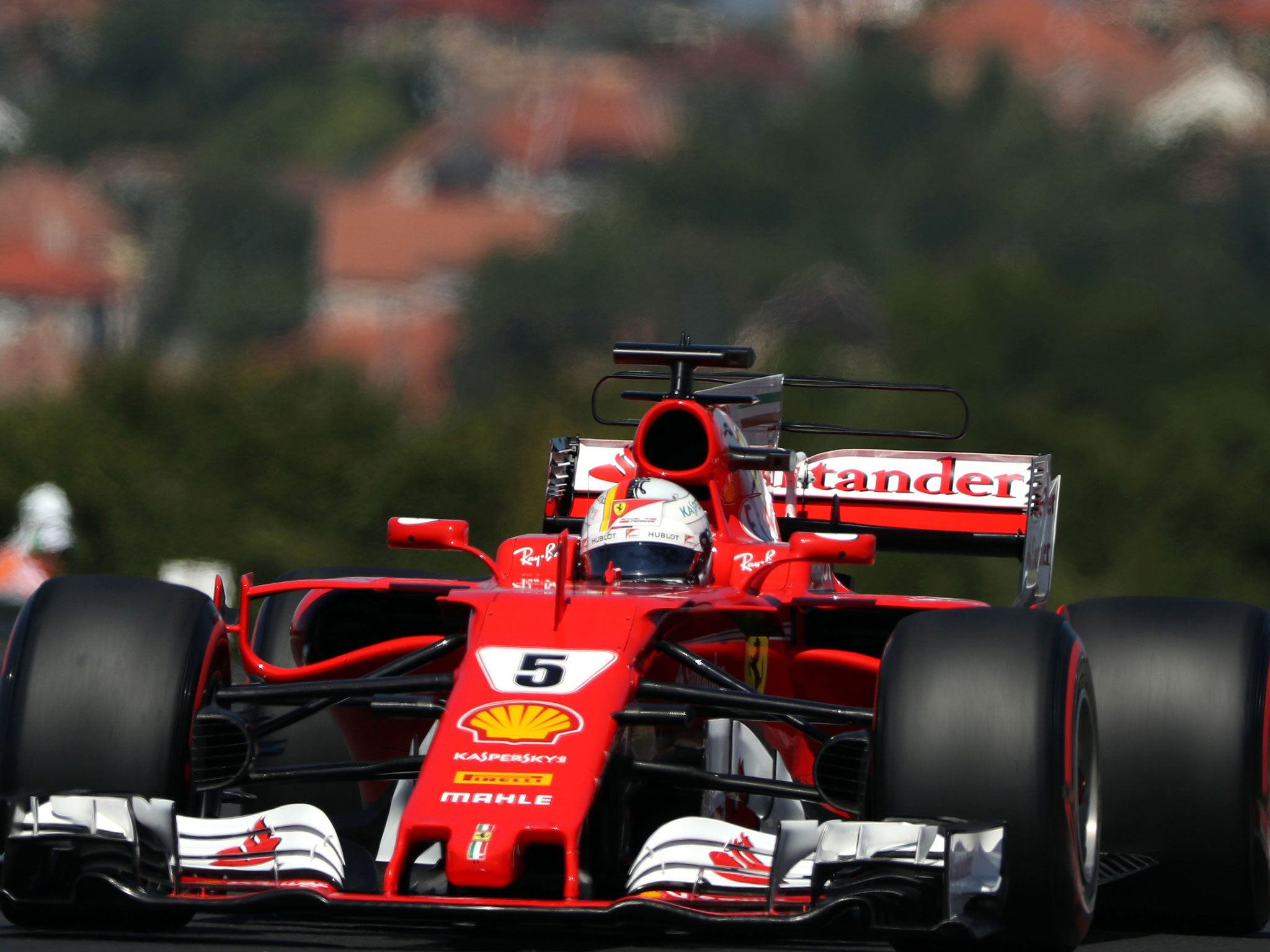 Hungarian grand prix 2017 sebastian vettel leads ferrari front row as lewis hamilton qualifies down in fourth the independent