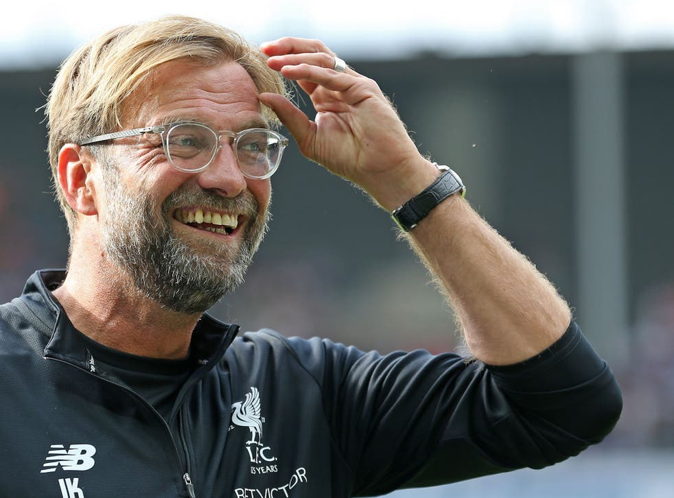 Jurgen Klopp was in a playful move as he joked about Liverpool's next offer for Naby Keita