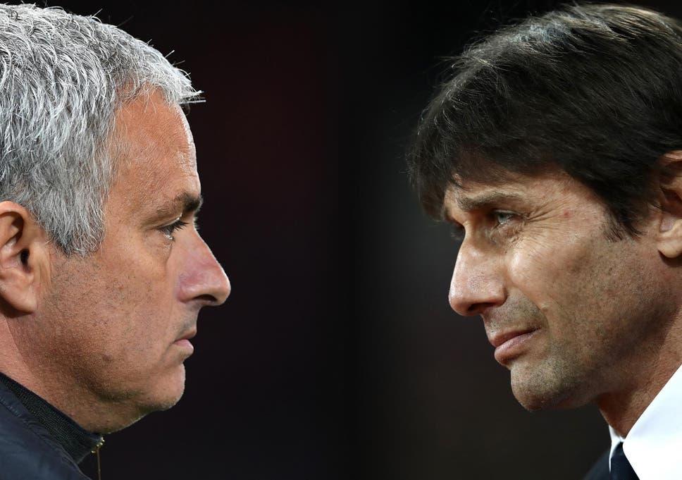 Jose Mourinho Mocks Antonio Contes Hairline As Manchester United