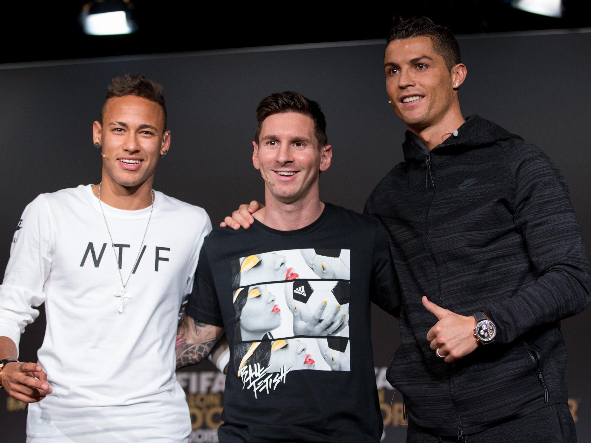 Resultado de imagen para Neymar messi ronaldo