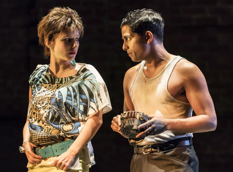 Faye Marsay as Clare and Shane Zaza as Joey in 'Road' at the Royal Court