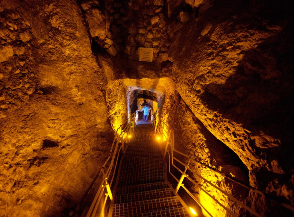 Excavators in tunnels in the City of David found burnt grape seeds, wood and pottery