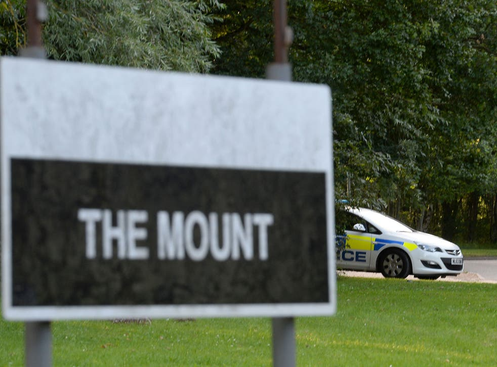 Police vehicles at The Mount Prison, in Hemel Hempstead, Hertfordshire, on 31 July