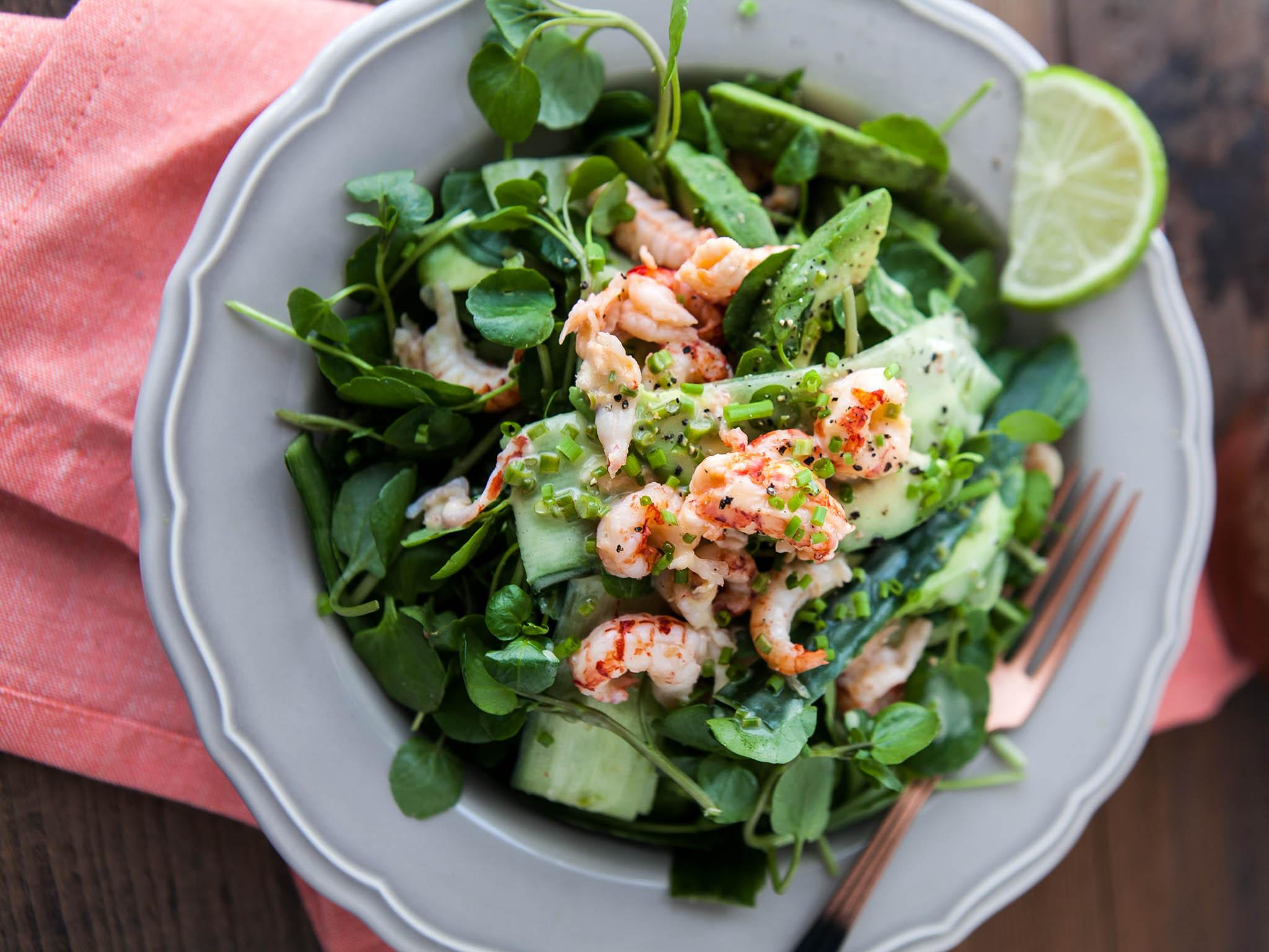 How to make crayfish, avocado and watercress salad with ...