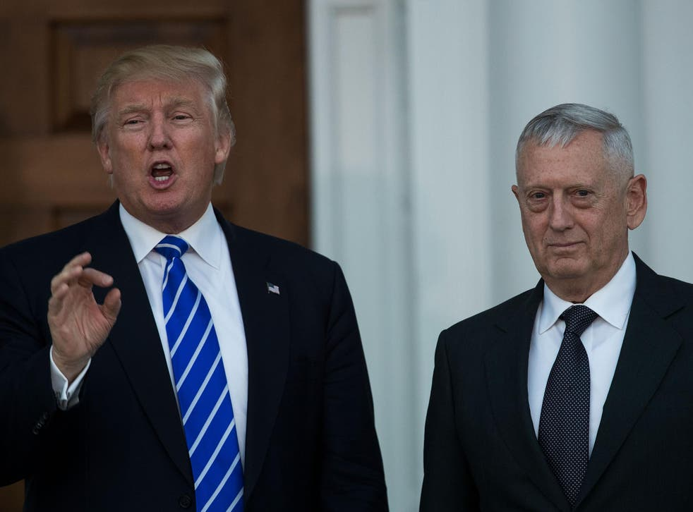 Donald Trump with General James Mattis