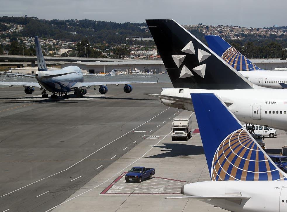 No runways or other flights were affected, airport spokesman Mr Yakel said