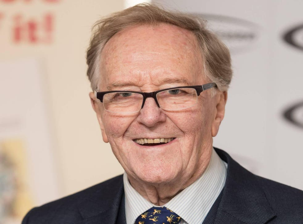 Robert Hardy arrives for the 'Oldie Of The Year Awards' at Simpsons in the Strand on 2 February, 2016