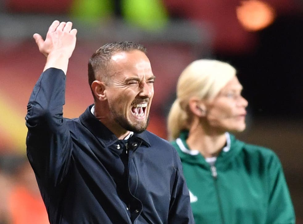 Mark Sampson was furious with the decision not to award England a penalty in the 3-0 defeat by the Netherlands