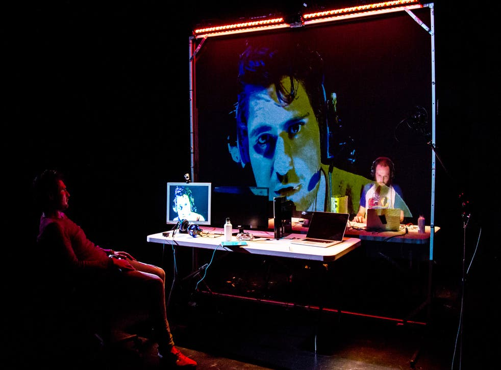 Alipoor delivers a multimedia feast of a show
