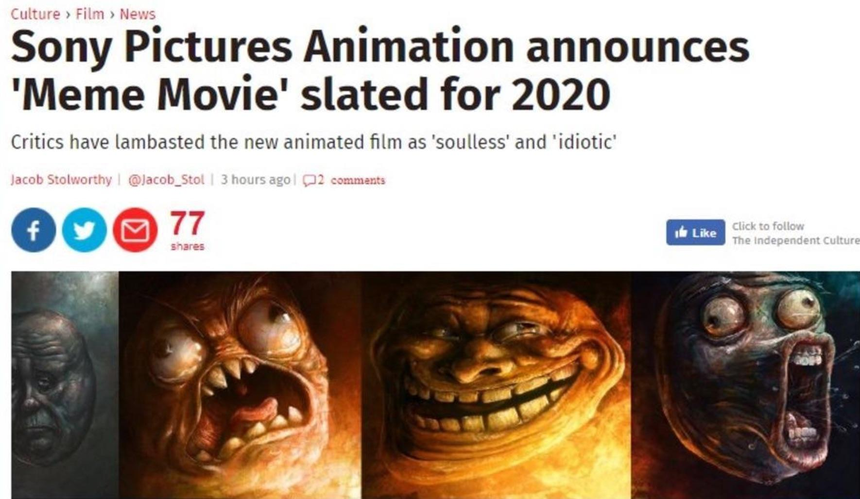 meme movie fake there isn't going to be a meme movie the independent,Meme The Movie