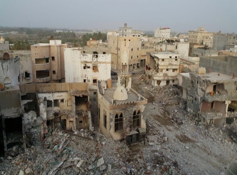Images purportedly of the town in the eastern Qatif province resemble scenes from a war zone