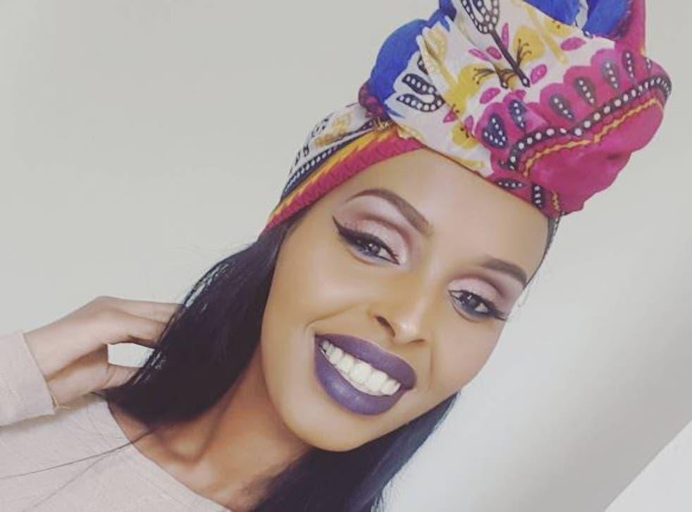 Muna Jama wore a mult-coloured kaftan instead of a bikini at the Miss Universe GB competition
