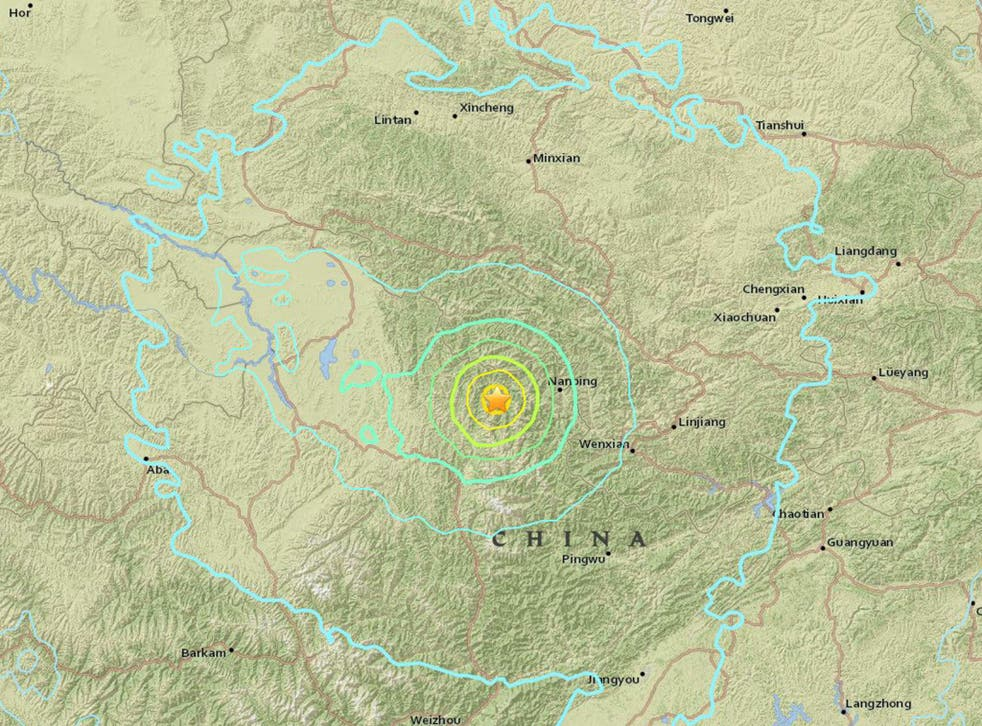 The quake struck 120 miles from the city of Guangyuan in Sichuan province, which is regularly hit by tremors