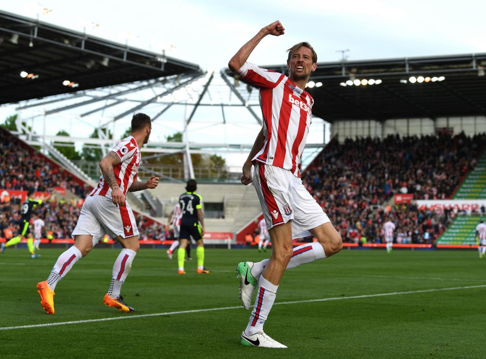 36-year-old Peter Crouch was Stoke's top scorer last season with 10 goals