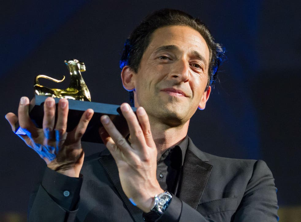 Actor Adrien Brody collects the Leopard Club Award at the Locarno Film Festival