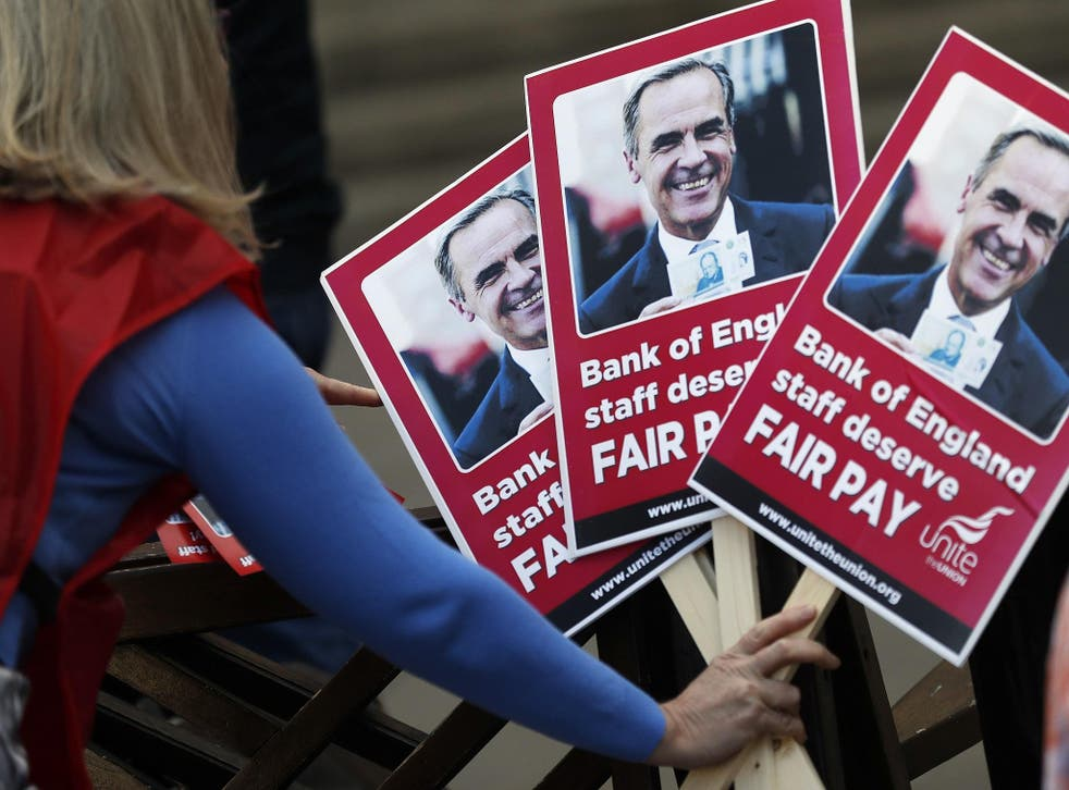 Bank of England maintenance staff were on strike last week over the Bank's latest pay increase offer
