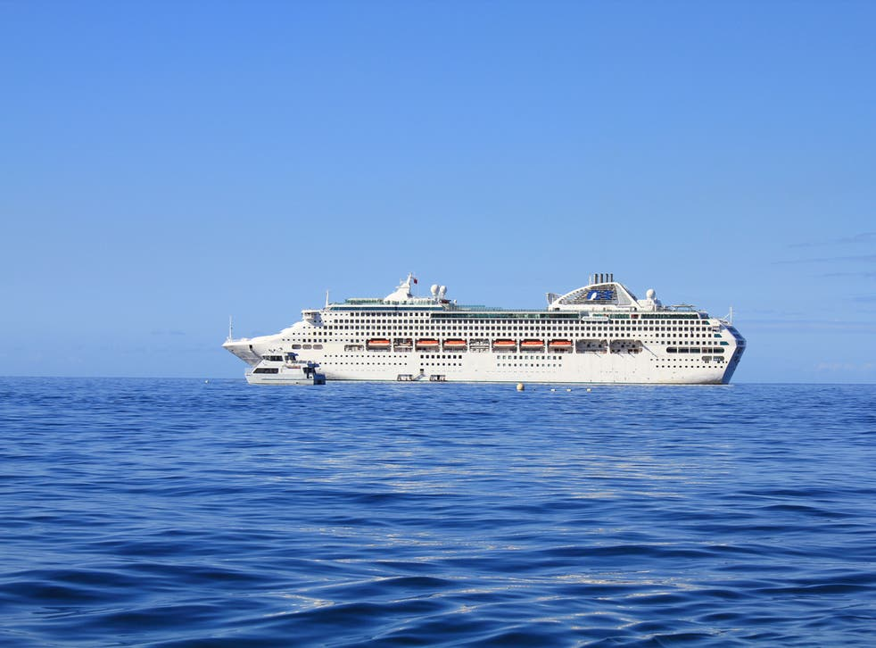 The Sea Princess cruise liner was on the first leg of a world tour