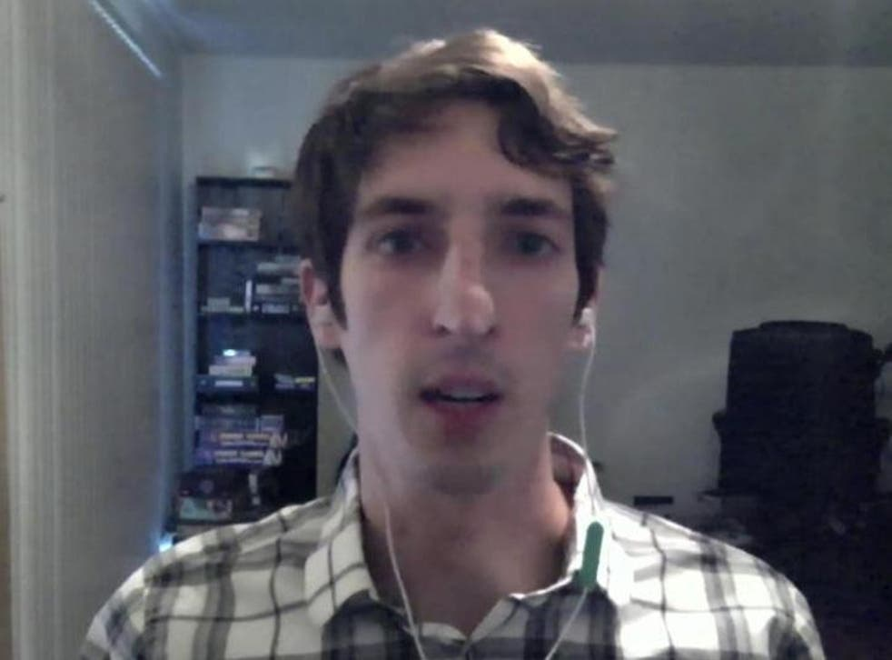 James Damore appears in a video interview with Bloomberg TV