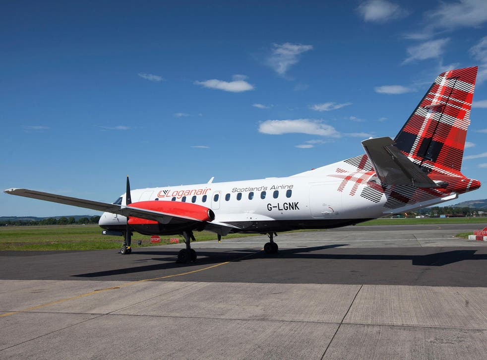 The Spirit of Caithness, Saab 340 aircraft, with the new livery