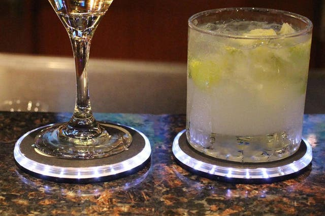 The tech-enabled coaster will alert you if your drink has been tampered with