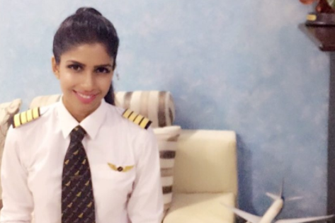 Youngest female pilot in the world reveals she'd never been a passenger on a plane before flying one