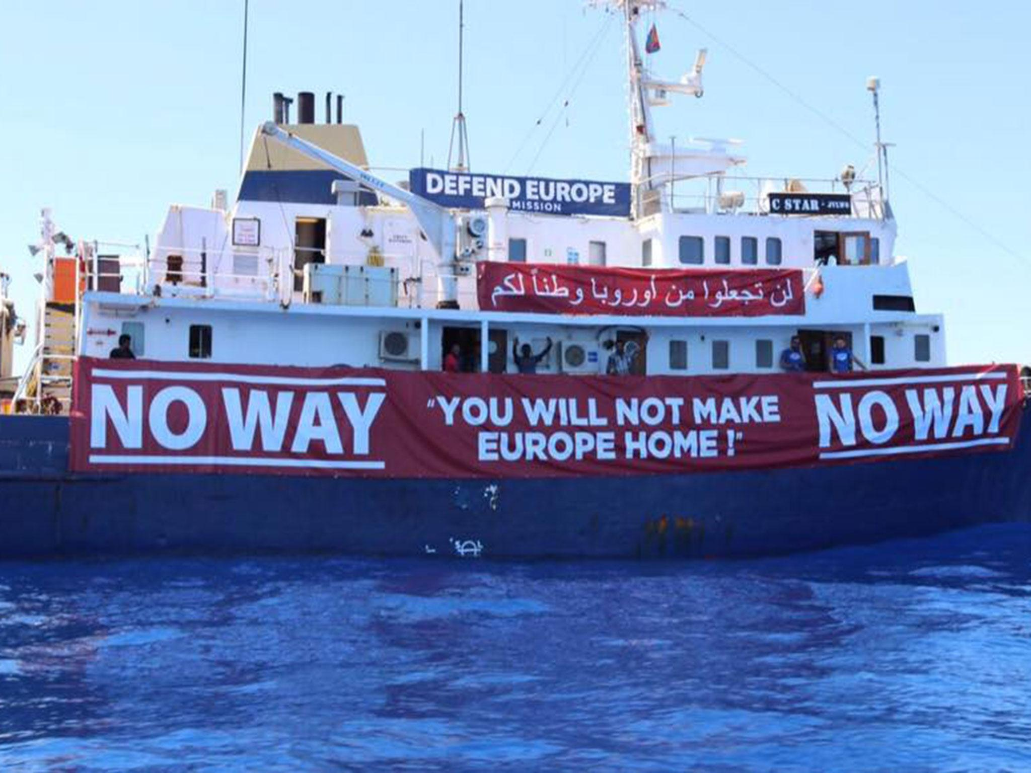 Refugee rescue boat sent to help far-right anti-immigrant
