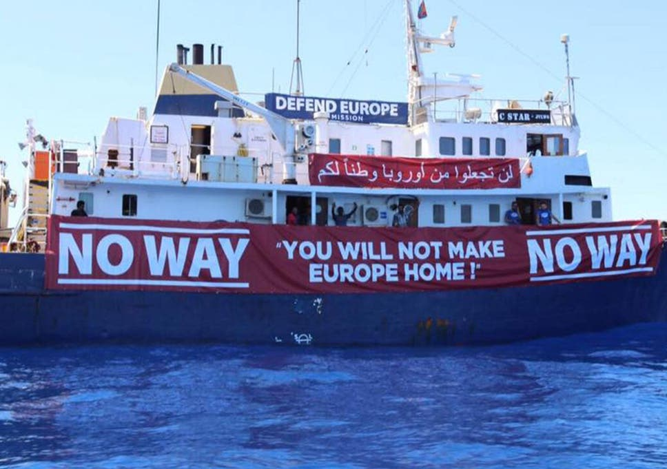 Defend Europe: Anti-immigrant ship trying to block refugees