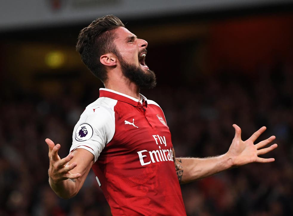 Most of  Olivier Giroud's Premier League appearances this season have come from off the bench
