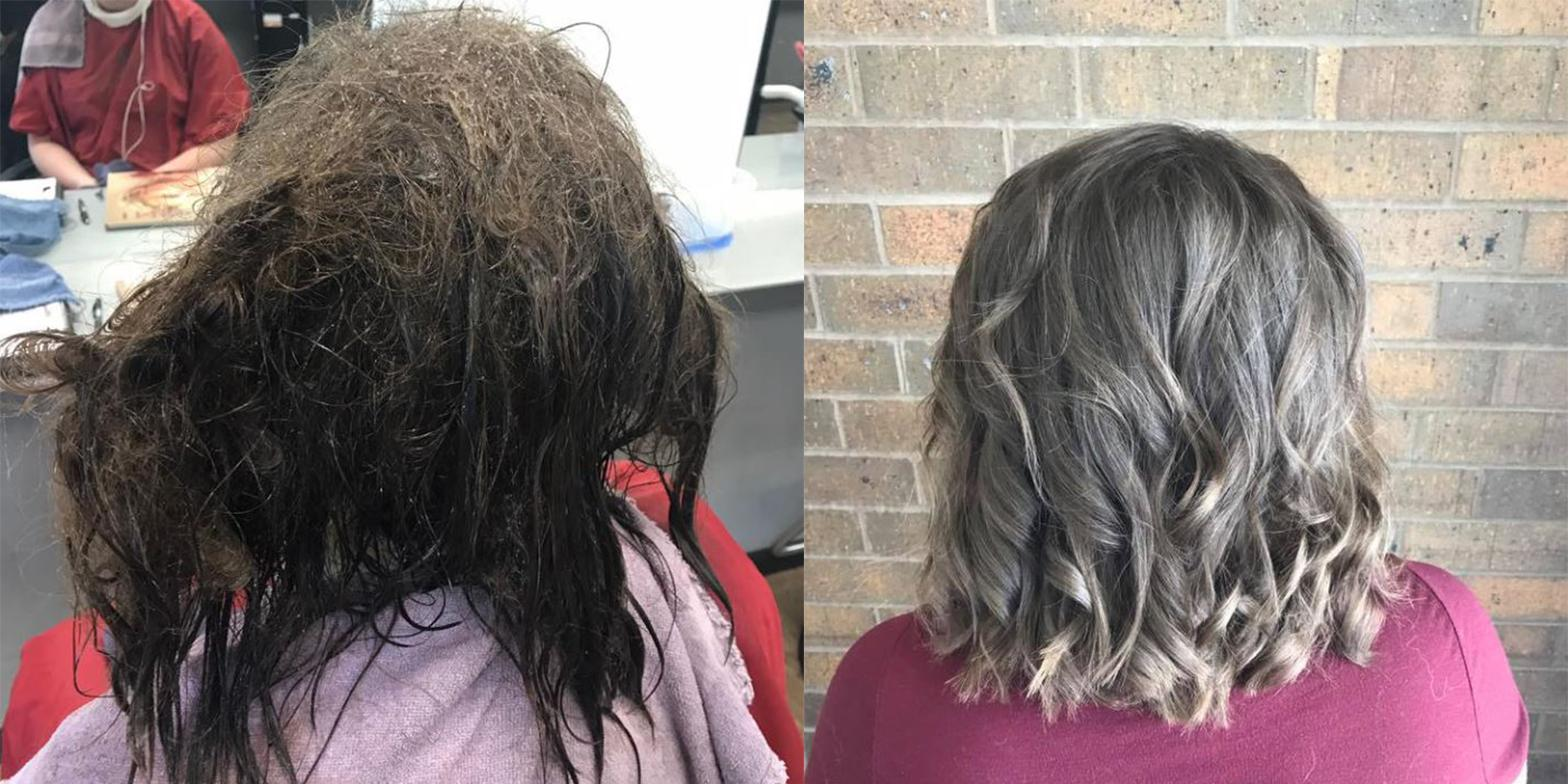 A teenager with depression asked a hairdresser to shave off all her matted hair, then something amazing happened