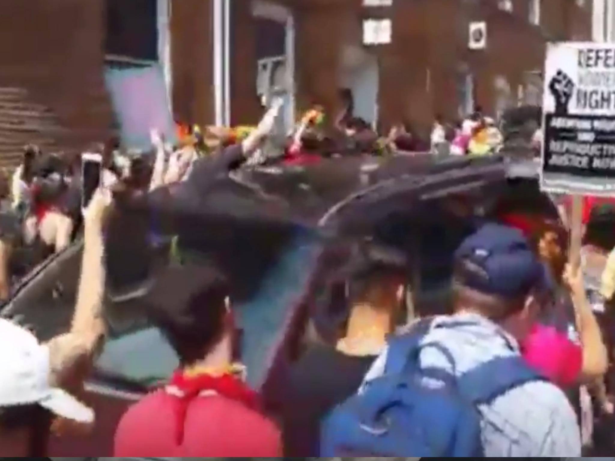 614b4c9548 Virginia white supremacist rally  One dead as car hits crowd of  anti-fascist protesters in Charlottesville
