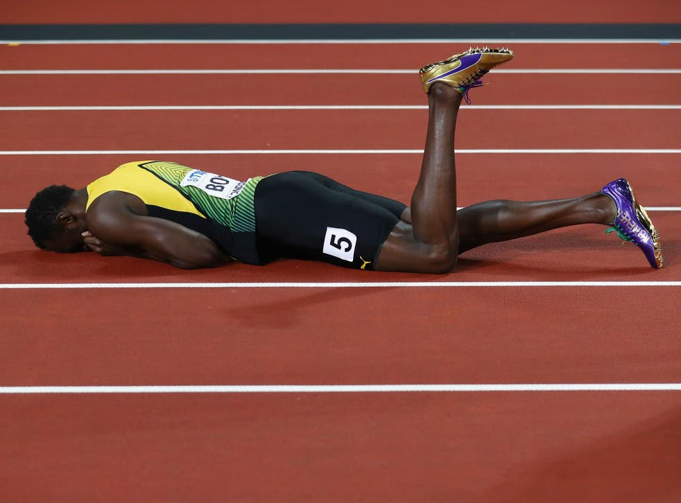 Bolt left the World Championships in London with a solitary bronze medal
